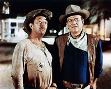 This is an image of 256302 John Wayne & Robert Mitchum Photograph & Poster