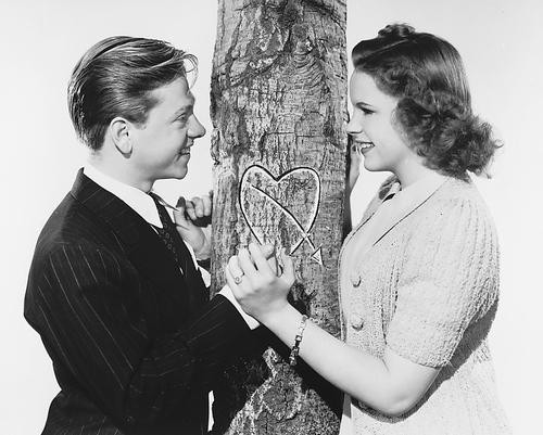 This is an image of 171978 Judy Garland & Mickey Rooney Photograph & Poster