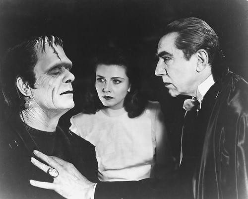 This is an image of 172313 Boris Karloff & Bela Lugosi Photograph & Poster