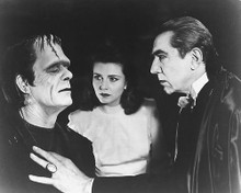 This is an image of 172313 Boris Karloff & Bela Lugosi Photograph & Poster