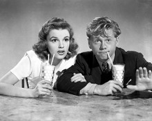 This is an image of 173620 Judy Garland & Mickey Rooney Photograph & Poster
