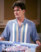 This is an image of 275296 Charlie Sheen Photograph & Poster