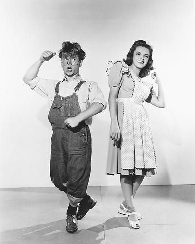 This is an image of 172454 Judy Garland & Mickey Rooney Photograph & Poster