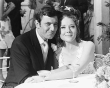 This is an image of 172271 George Lazenby and Diana Rigg Photograph & Poster