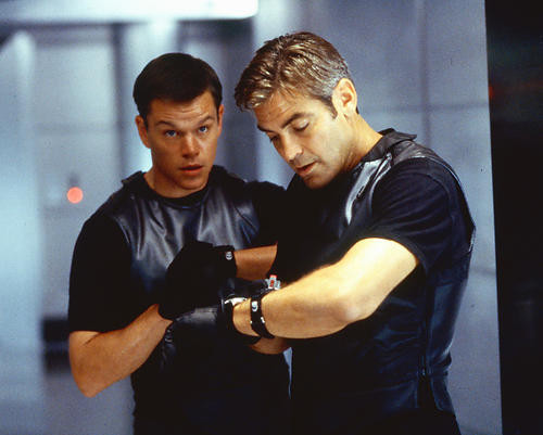 This is an image of 250134 George Clooney and Matt Damon Photograph & Poster