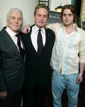 This is an image of 255521 Kirk Douglas, Michael Douglas & Cameron Dorgh Photograph & Poster