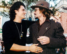 This is an image of 292583 Johnny Depp & Orlando Bloom Photograph & Poster