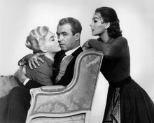 This is an image of Prints & Posters of James Stewart and Kim Novak 104550