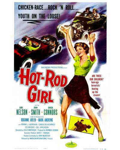This is an image of Prints & Posters of Hot Rod Girl 203178
