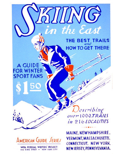 This is an image of Prints & Posters of Skiing 203201