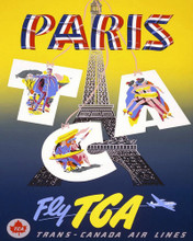 This is an image of Prints & Posters of Fly Trans Canada Air Lines to Paris 204012