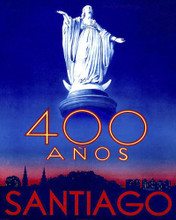 This is an image of Prints & Posters of Santiago Chile 400 Years 204027