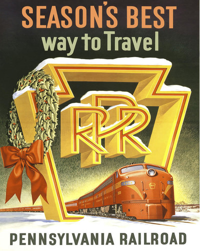 This is an image of Prints & Posters of Pennsylvania Railroad 204029