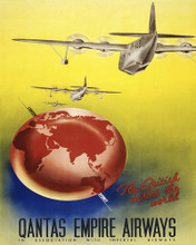 This is an image of Prints & Posters of Quantas Empire Airways 204032