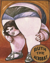 This is an image of Prints & Posters of Ruth the Acrobat 204040