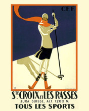 This is an image of Prints & Posters of St. Croix Et Les Rasses Switzerland 204049