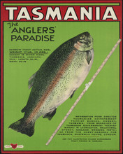 This is an image of Prints & Posters of Tasmania the Anglers Paradise 204050