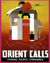 This is an image of Prints & Posters of Orient Calls India China Japan 204051