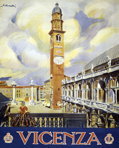 This is an image of Prints & Posters of Venice Vicenza Piazza San Marco 204054