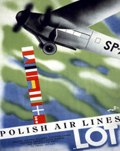 This is an image of Prints & Posters of Lot Polish Air Lines 204060