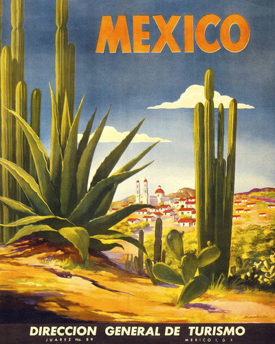 This is an image of Prints & Posters of Mexico Tourism 204089