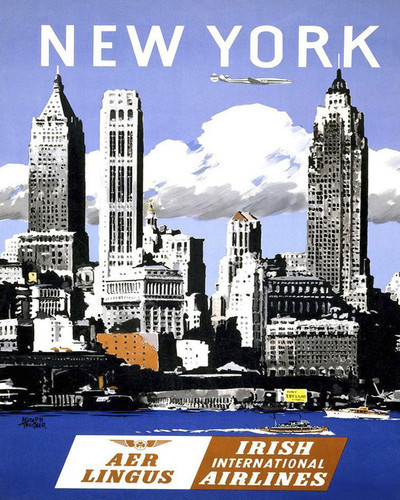 This is an image of Prints & Posters of New York City by Aer Lingus 204100