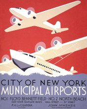 This is an image of Prints & Posters of City of New York Municipal Airports 204103