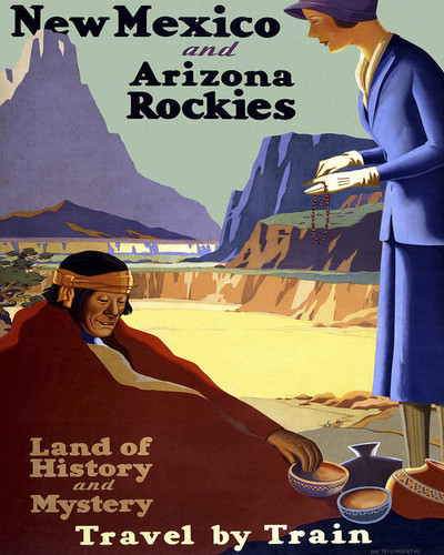 This is an image of Prints & Posters of New Mexico Arizona Rockies 204108