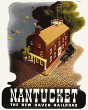 This is an image of Prints & Posters of Nantucket New Haven Railroad 204110