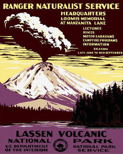 This is an image of Prints & Posters of Lassen Volcanic National Park 204117