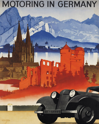 This is an image of Prints & Posters of Motoring in Germany 204135