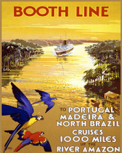 This is an image of Prints & Posters of River Amazon Cruises by Booth Line 204140