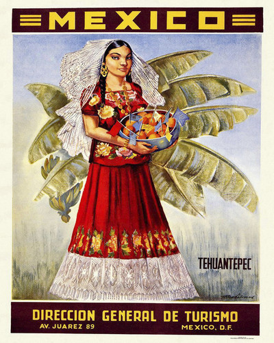 This is an image of Prints & Posters of Mexico Tehuantepec 204143