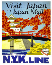 This is an image of Prints & Posters of Visit Japan by Japan Mail 204148