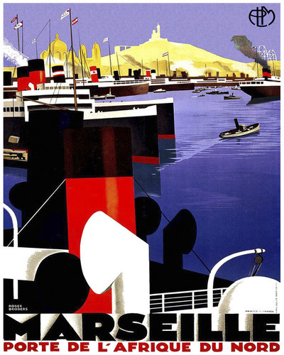 This is an image of Prints & Posters of Marseille Porte De Lafrique Du Nord 204150