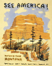 This is an image of Prints & Posters of See America! Montana 204152