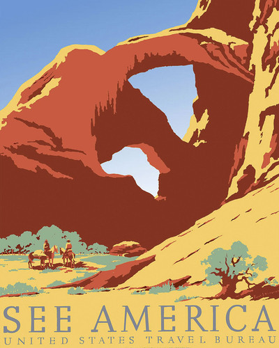 This is an image of Prints & Posters of See America Arches National Park 204158