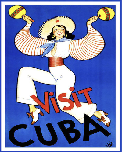 This is an image of Prints & Posters of Visit Cuba 204161