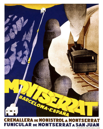 This is an image of Prints & Posters of Montserrat Funicular Railway 204162
