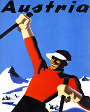 This is an image of Prints & Posters of Austria Ski 204163