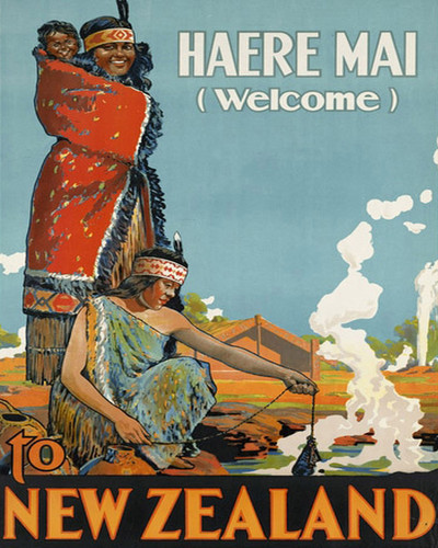 This is an image of Prints & Posters of New Zealand Welcome Haere Mai 204128