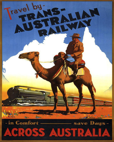 This is an image of Prints & Posters of Australia by Trans Australian Railway 204165