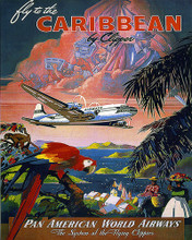 This is an image of Prints & Posters of Caribbean by Clipper Pan American World 204166