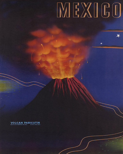 This is an image of Prints & Posters of Mexico Volcan Paricutin 204167