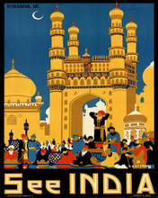 This is an image of Prints & Posters of See India 204168