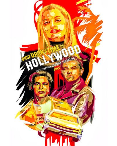 This is an image of Prints & Posters of Once Upon a Time in Hollywood 204250