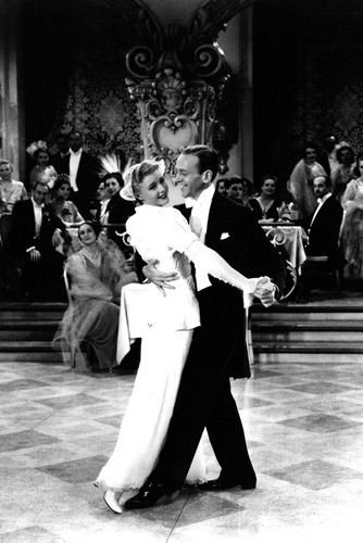 This is an image of Prints & Posters of Fred Astaire and Ginger Rogers 106960