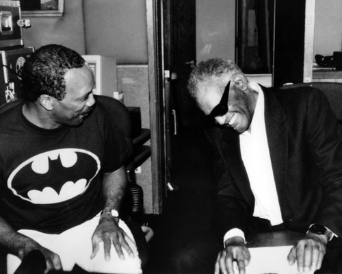 This is an image of Prints & Posters of Ray Charles and Quincy Jones 107174