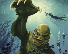 This is an image of Prints & Posters of The Creature from the Black Lagoon 204345
