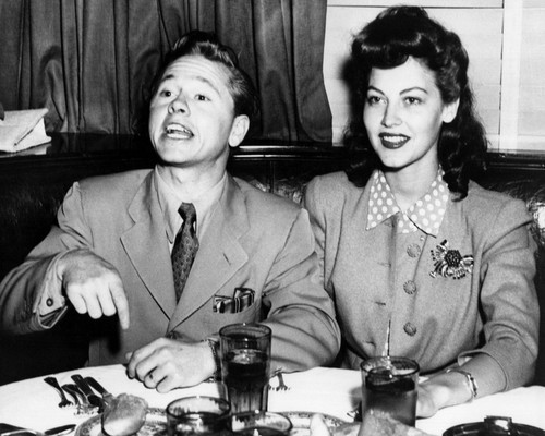 This is an image of Prints & Posters of Mickey Rooney & Ava Gardner 107074